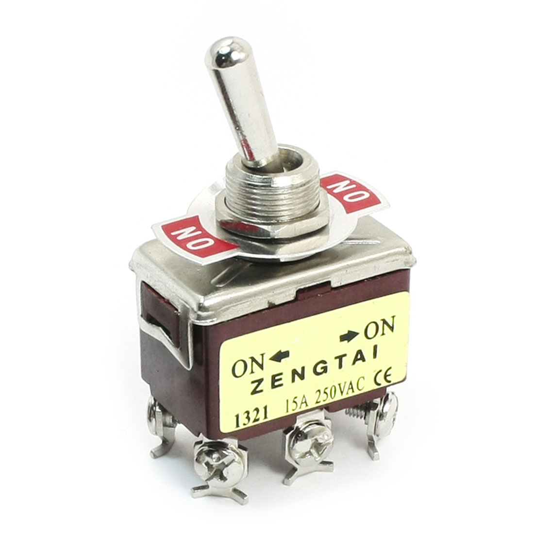 AC 250V 15A DPDT ON-ON 2 Positions 6 Pin Latching Toggle Switch E-TEN1321