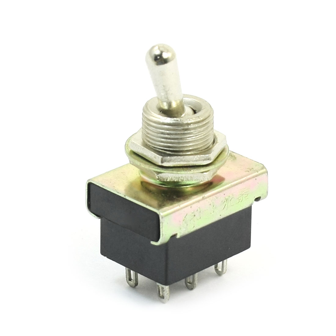 AC 220V 3A 2PDT ON-OFF 2 Positions 6 Pin Latching Toggle Switch KN3-3 Black