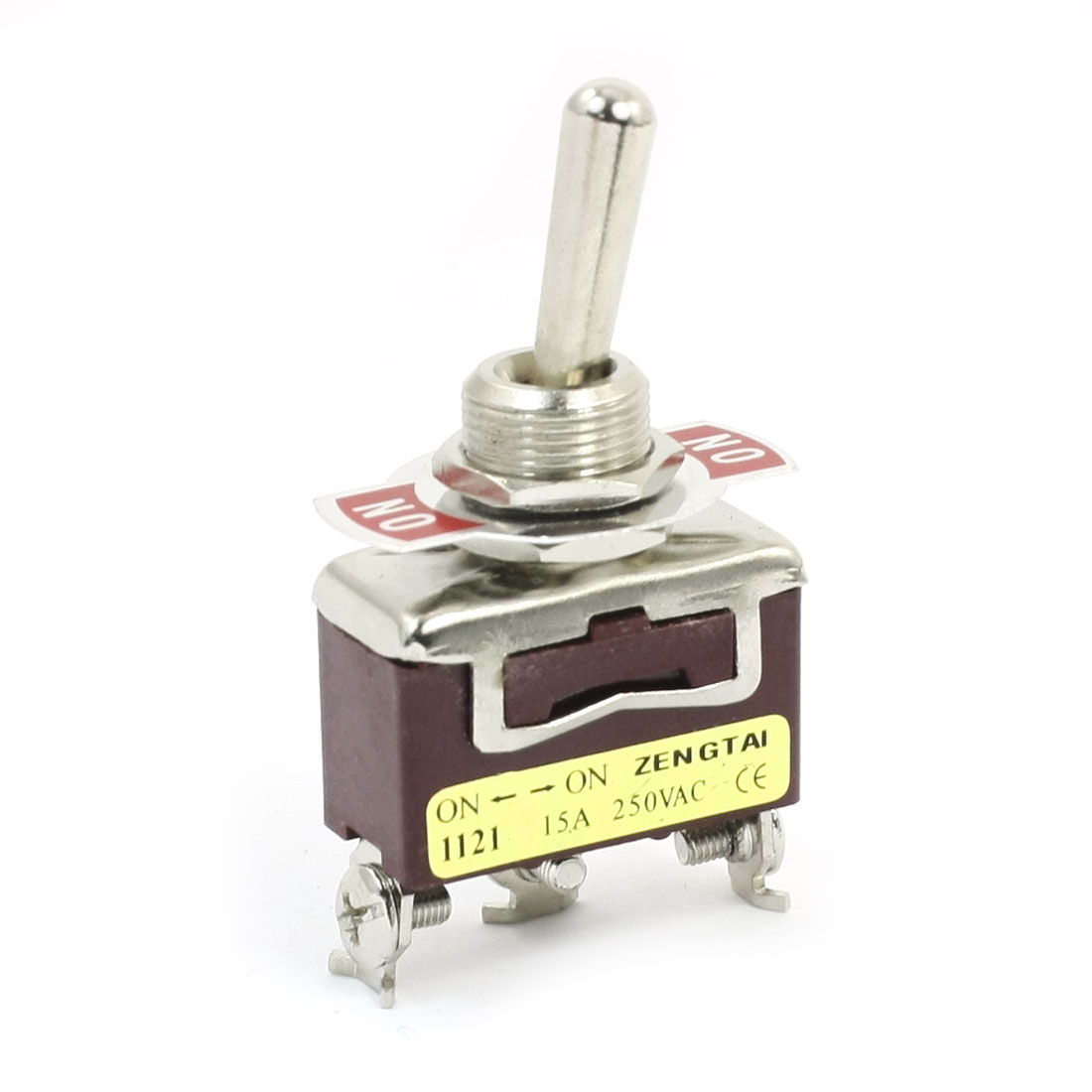 AC 250V 15A SPDT ON-ON 2 Positions Latching Power Toggle Switch E-TEN1121