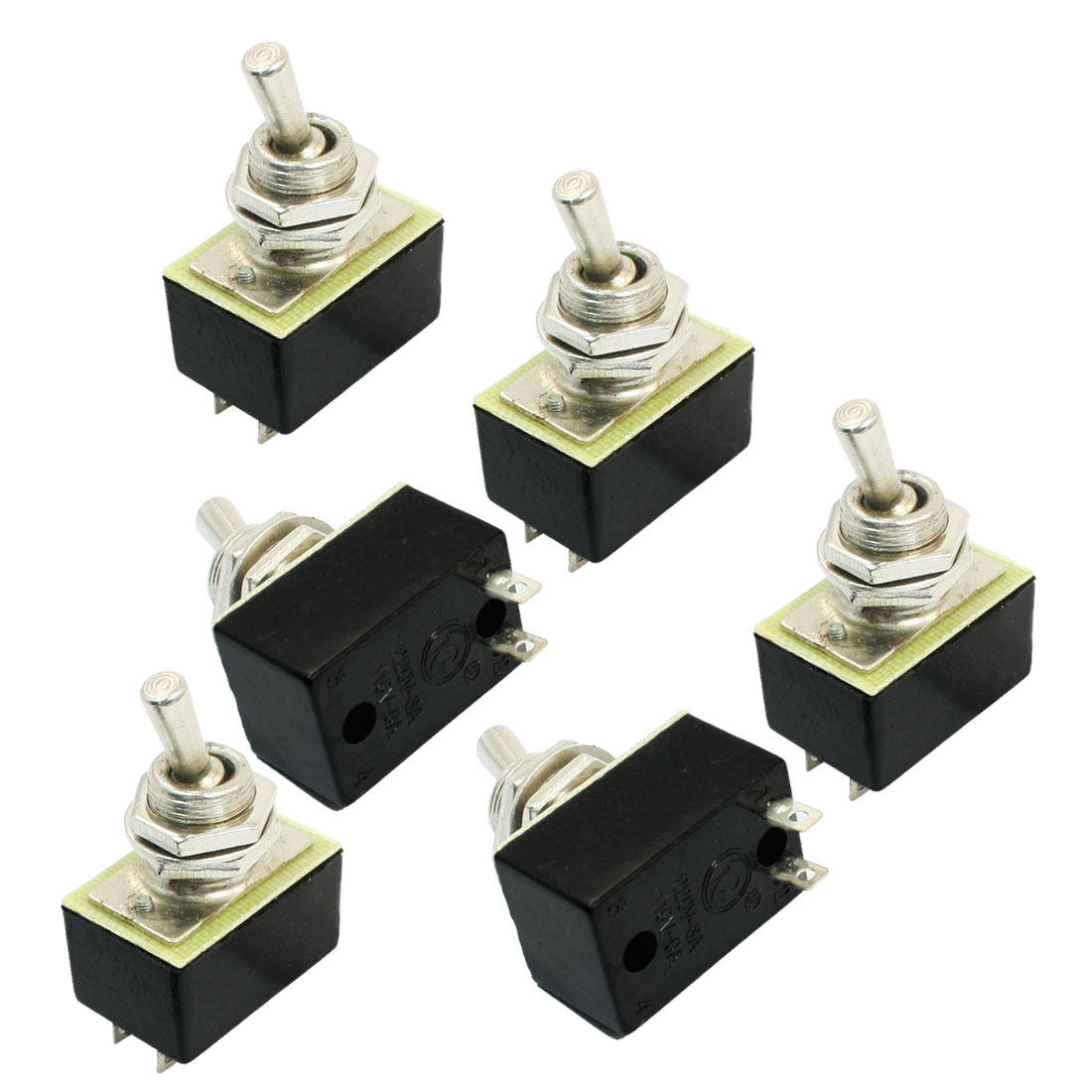 SPST ON/OFF 2 Position Power Control Toggle Switch AC 110V 6A KN3A 1X1 6pcs