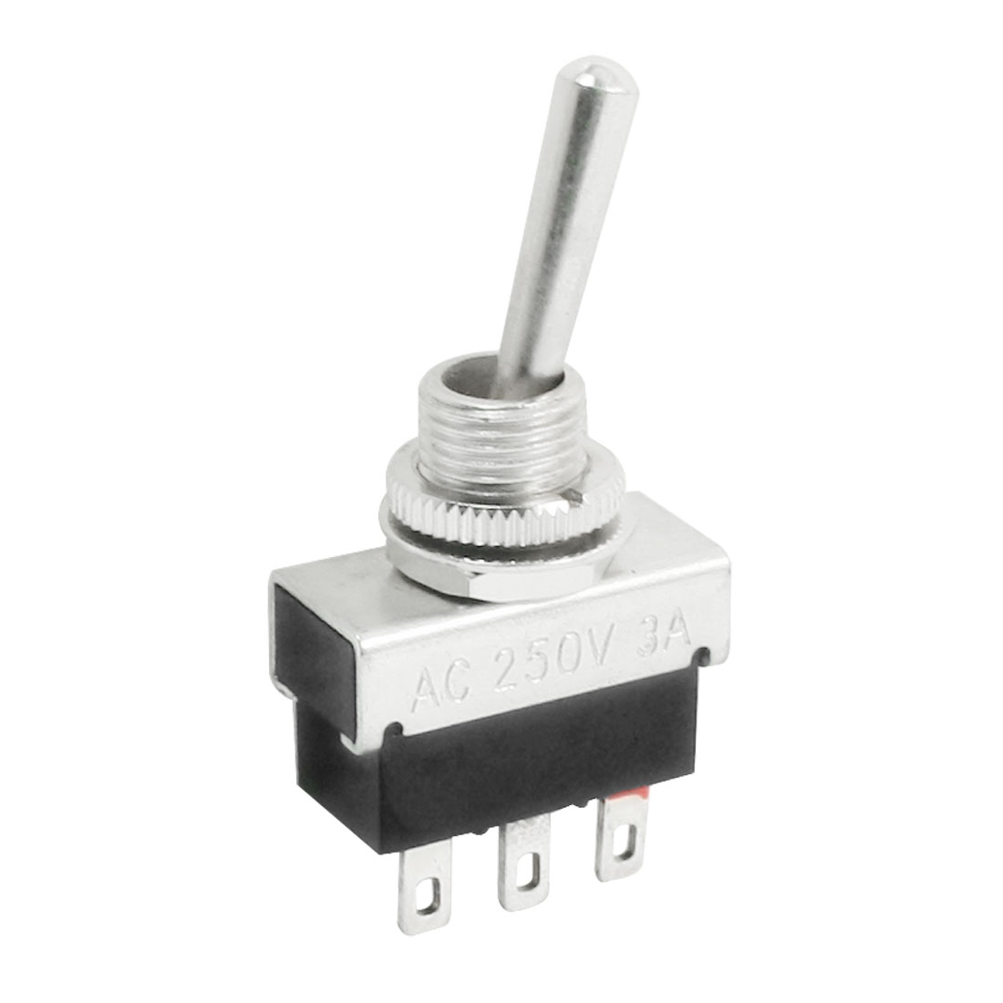 6mm Panel Mount SPDT ON/OFF 2 Position Power Toggle Switch AC 250V 3A KN4