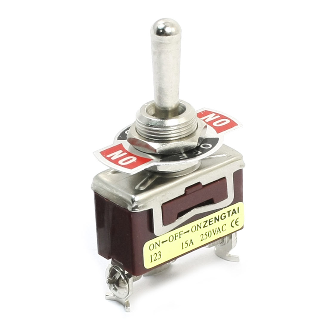 11mm Panel Mount SPDT ON/OFF/ON 3 Position Toggle Switch AC 250V 15A E-TEN123