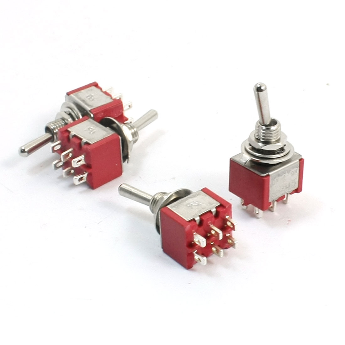 AC 120V 5A ON/OFF/ON 3 Positions Latching Electric Toggle Switch Red 4pcs