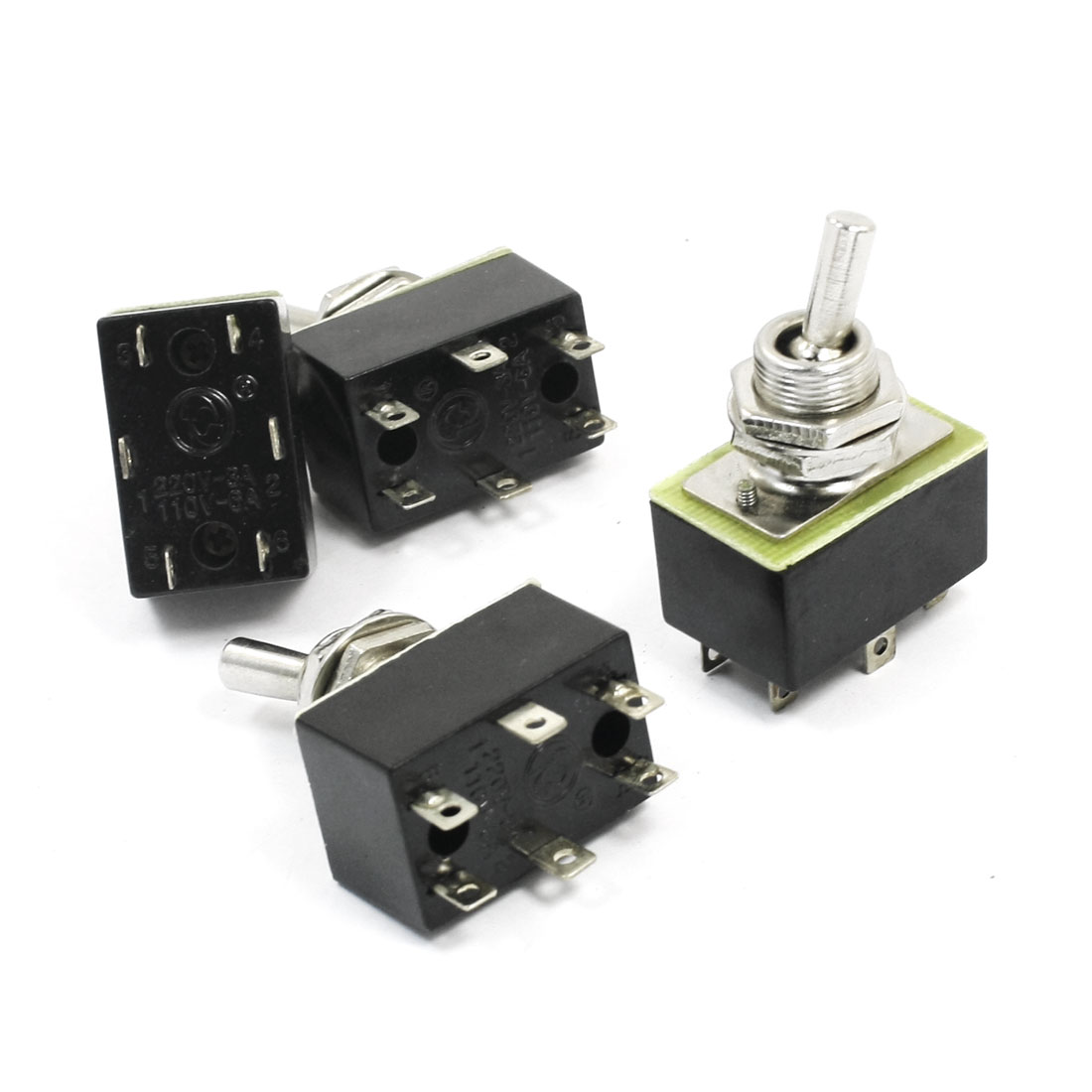 Spare Parts AC 110V 6A ON/OFF 2 Positions 6 Pin Toggle Switch KN3A 2X2 4pcs