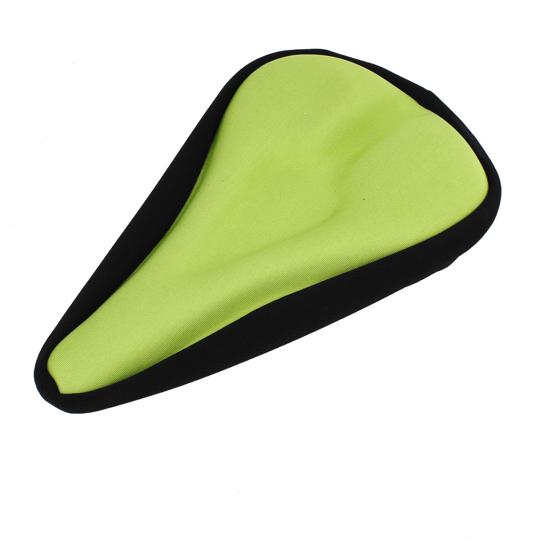 Green Black Nylon Coated Soft Silicone Bicycle Cycling Riding Seat Saddle Cushion