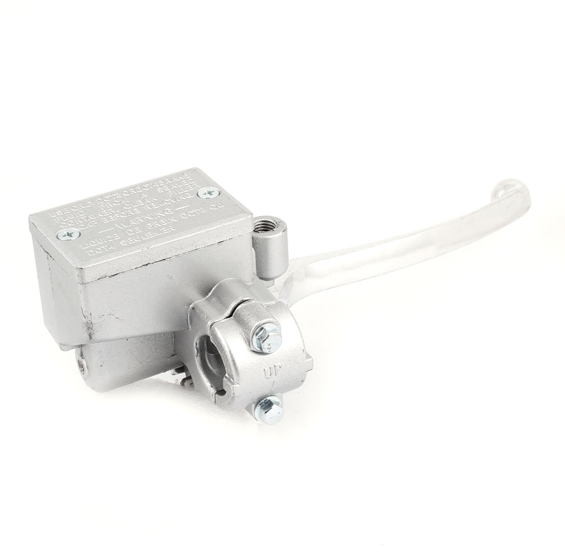 Silver Tone Metal Motorcycle Front Brake Pump Accessory for CG
