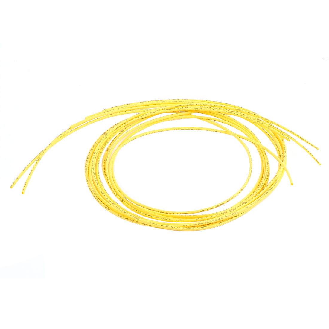 Ratio 2:1 Yellow Polyolefin 1mm Dia Heat Shrink Shrinkable Tube 1M 5pcs