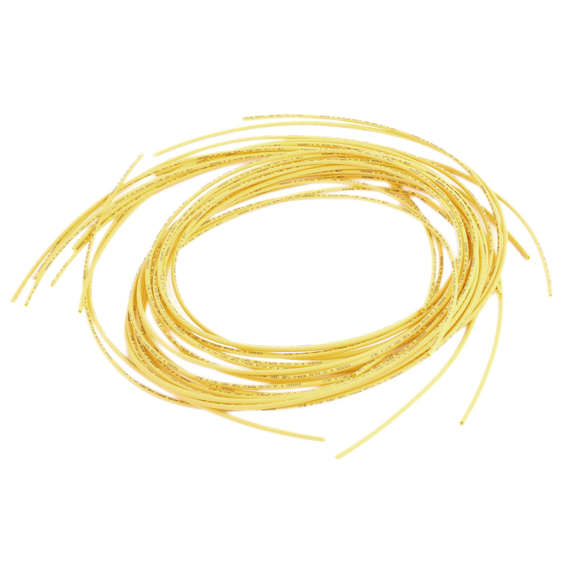 1M 1mm Dia Polyolefin Heat Shrinking Shrinkable Tubing Tubes Yellow 10pcs