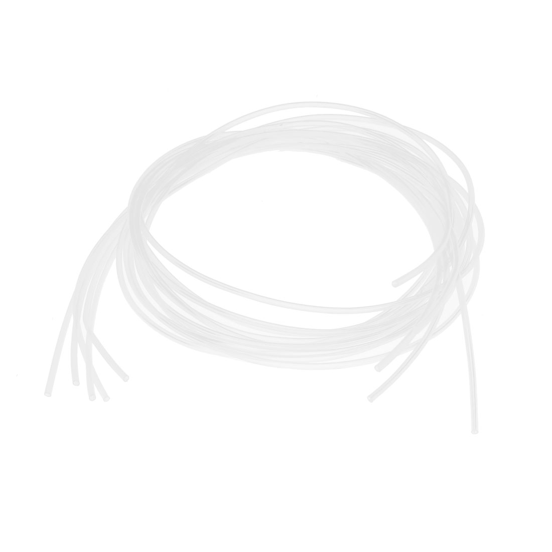 2:1 Shrink Ratio 1M 3.3Ft Clear Flexible Heat Shrinkable Tubing 5pcs