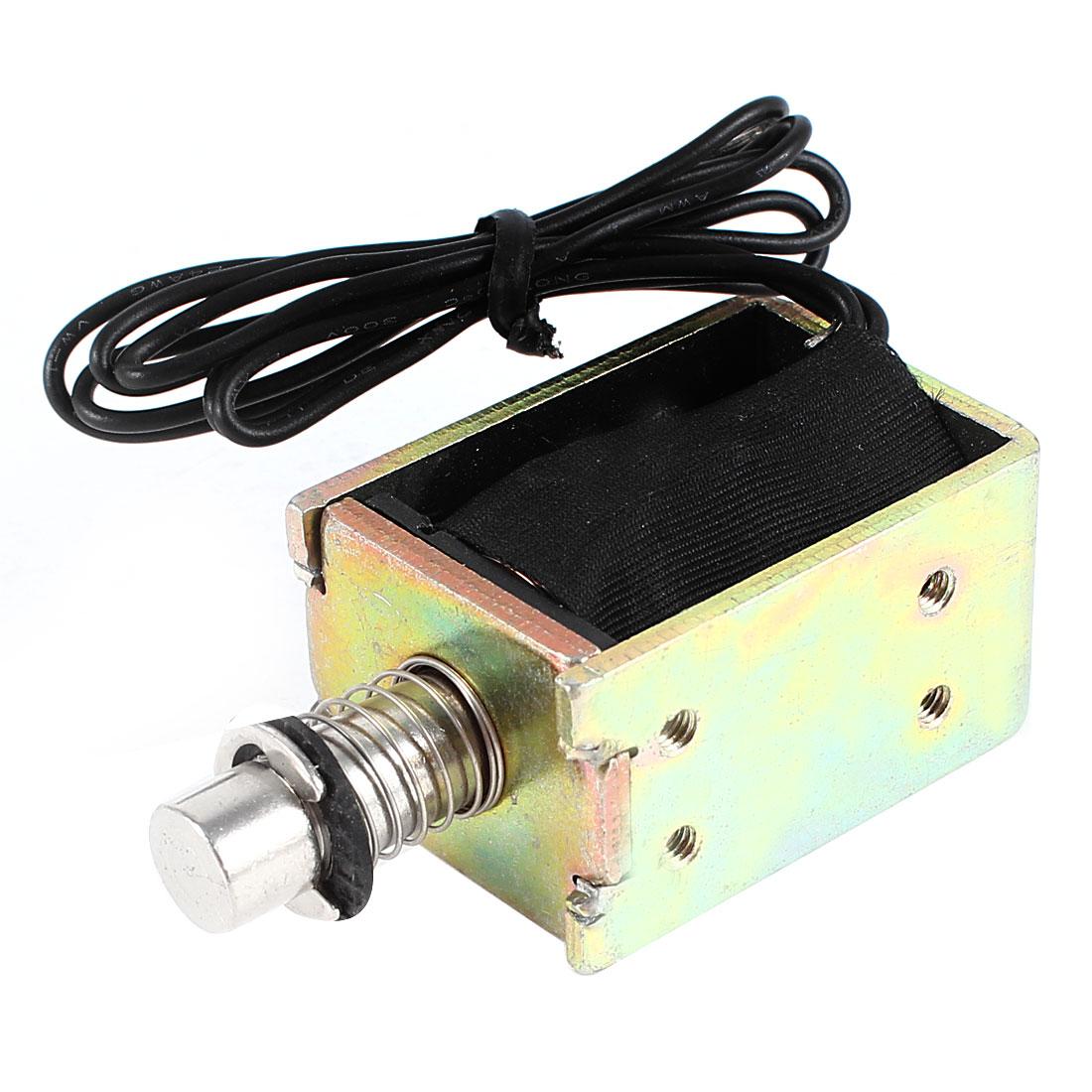 DC 12V 10mm Stroke 2.5LB 1.1Kg Pull Push Type Open Frame Eletric Actuator Solenoid Electromagnet