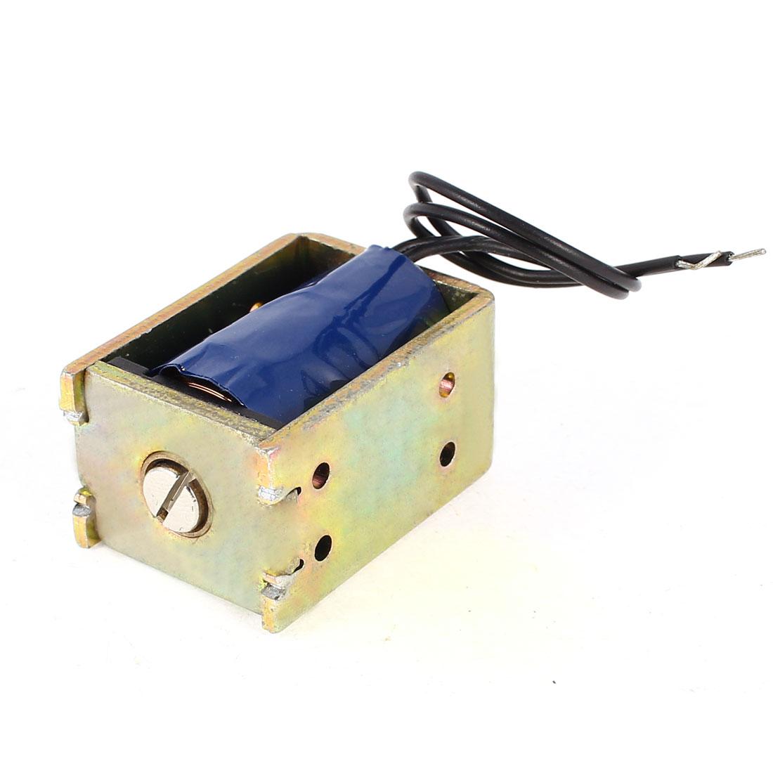 SDO-0837S-24V32 10mm Stroke Linear Motion Open Frame Solenoid Push Type Electromagnet DC 24V