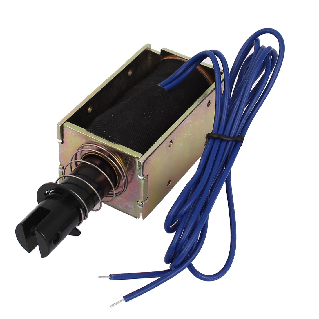 DC 24V 0.8A 5.1N Force 20mm Stroke Linear Pull Type Open Frame Actuator Solenoid Electromagnet