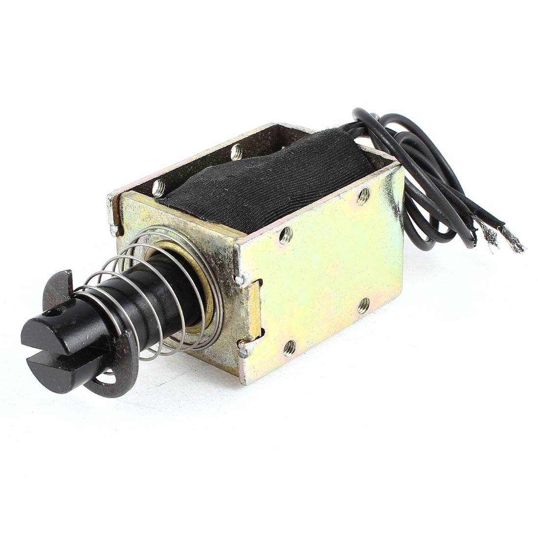 DC 24V 2.66A 15mm Stroke 5LB 2.2Kg Pull Type Open Frame Eletric Actuator Solenoid Electromagnet