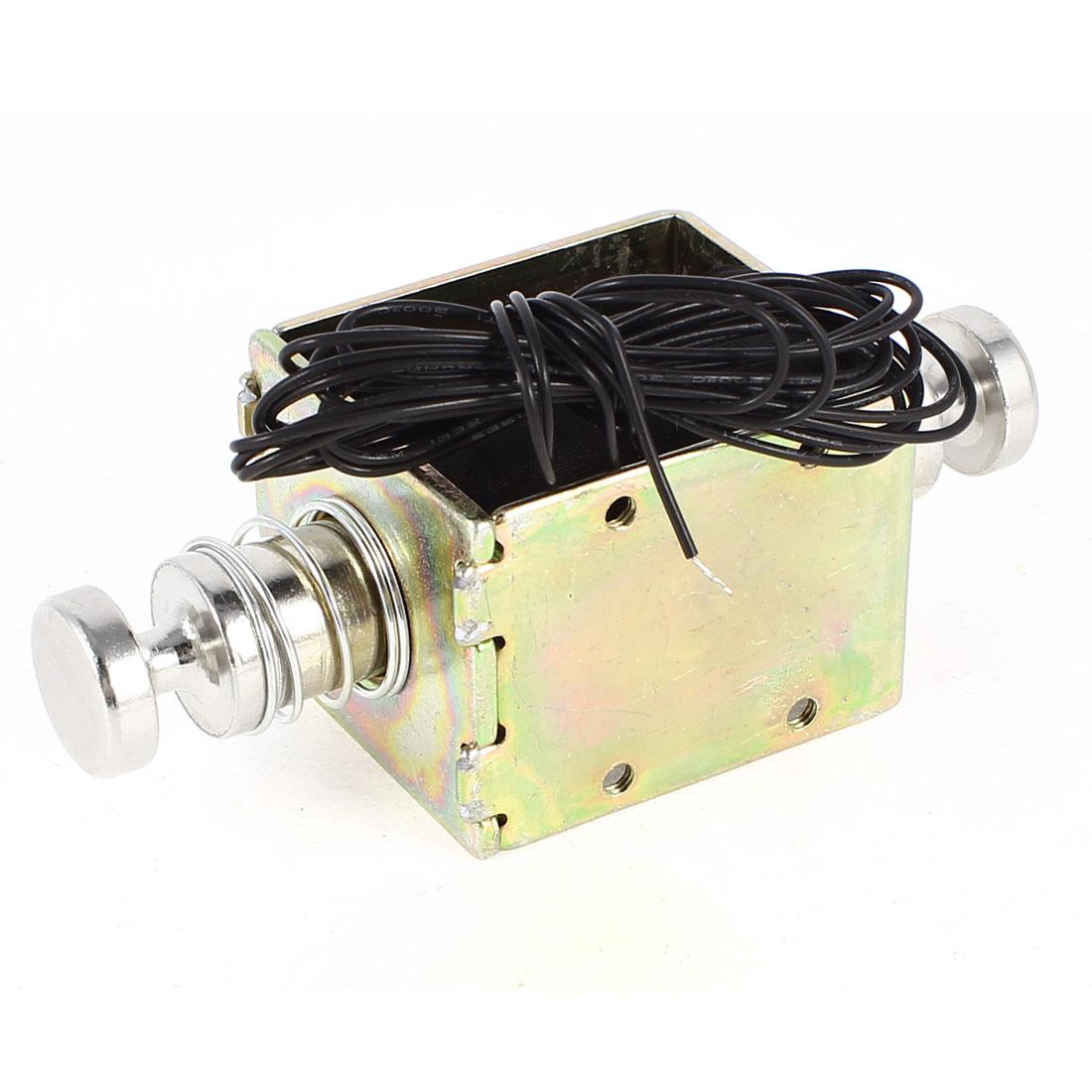 SDO-1652S 8mm Stroke Linear Motion Open Frame Solenoid Push Type Electromagnet DC 36V