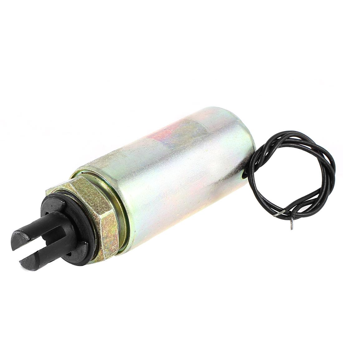 DC 24V 0.4A 10mm Stroke 2.5LB 1.1Kg Force Pull Type Tubular Solenoid Electromagnet