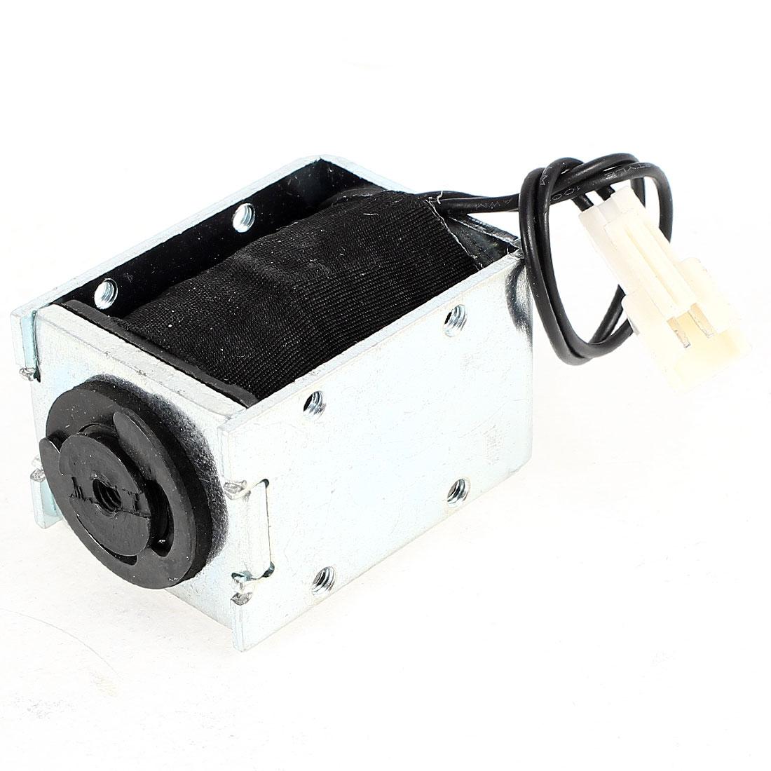 DC 24V 0.17A 5mm Stroke 2.5LB 1.1Kg Pull Type Open Frame Eletric Actuator Solenoid Electromagnet