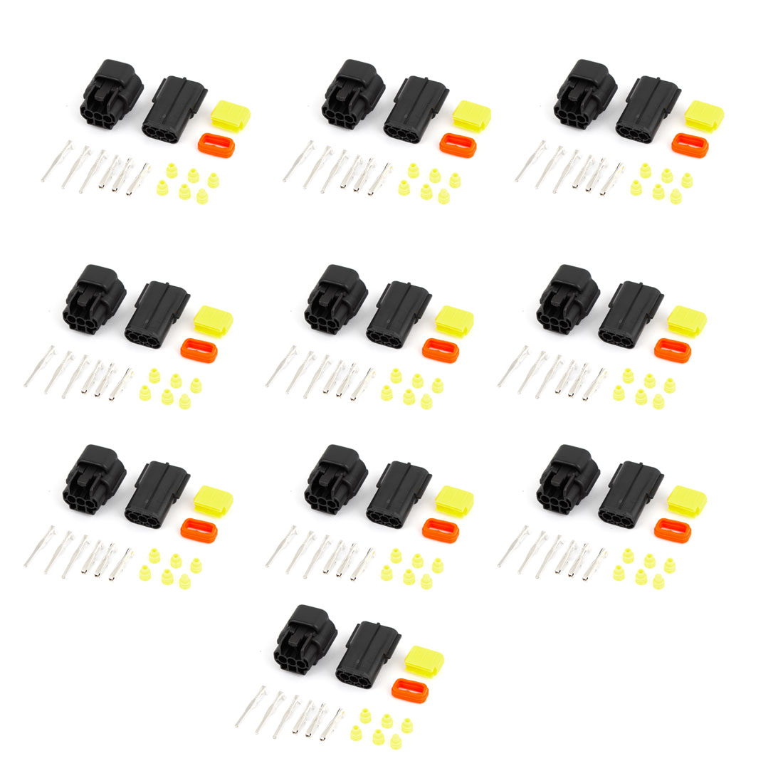 10 Set 3-Terminals 3 Positions Sealed Waterproof Cable Connectors for Car Stereo