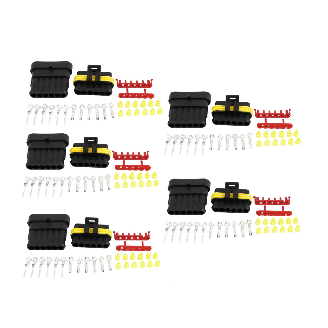5 Set 6 Pin Waterproof Connector 6 Way Connector Car Truck Boat ATV UTV RV