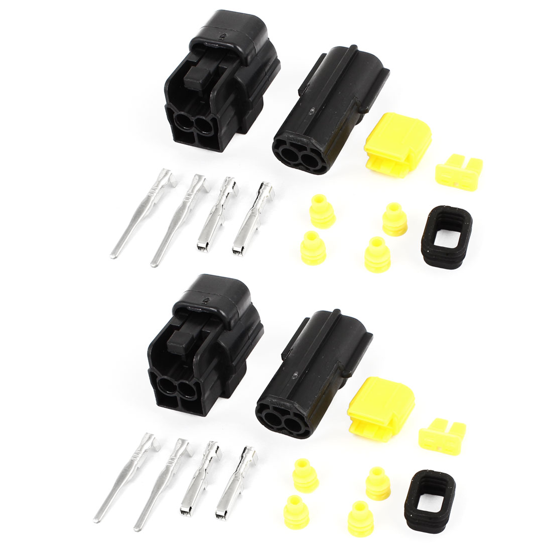 2 Set 2-way 2 Positions Sealed Waterproof Wire Connectors for Car Auto Stereo