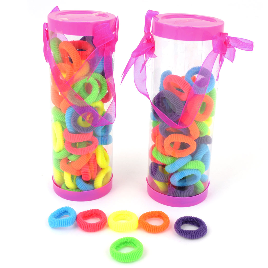 Women Colorful Elastic Rubber Hair Braid Ties Ponytail Holder 120 Pcs
