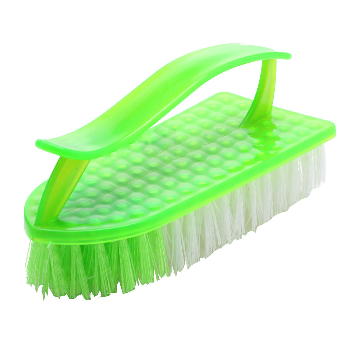 Home Plastic Handle Clothes Floor Cleaning Scrubbing Brush Green White