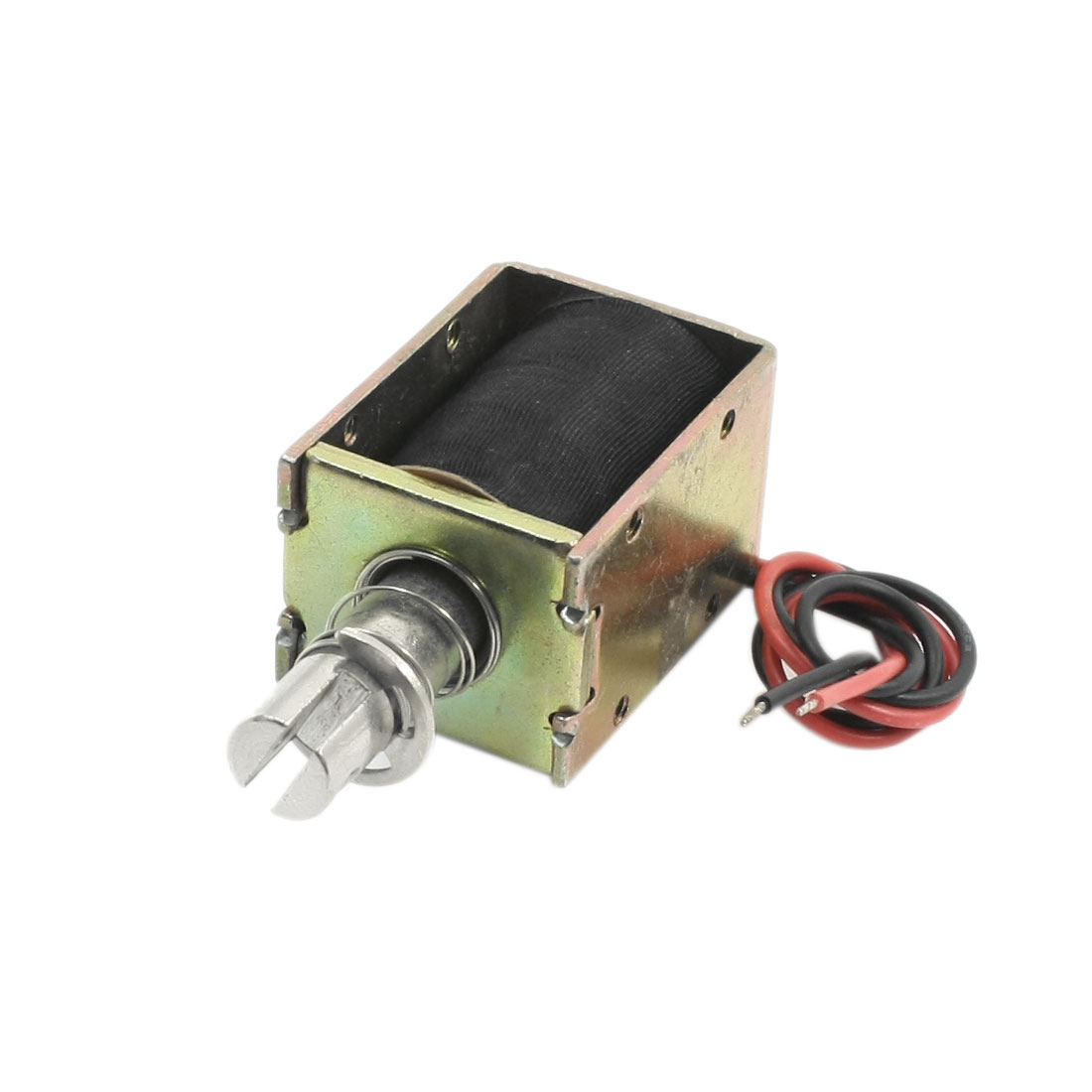 DC48V 700g Force 10mm Actuator 2-Wires Pull Push Solenoid Electromagnet