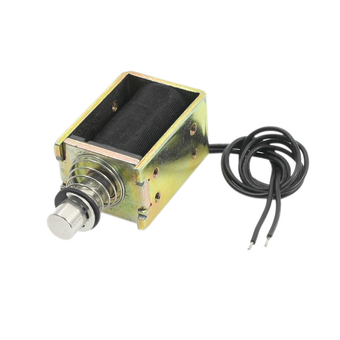 DC60V 0.53A 32.1W Pull Push 600g/8mm Open Frame Solenoid Electromagnet