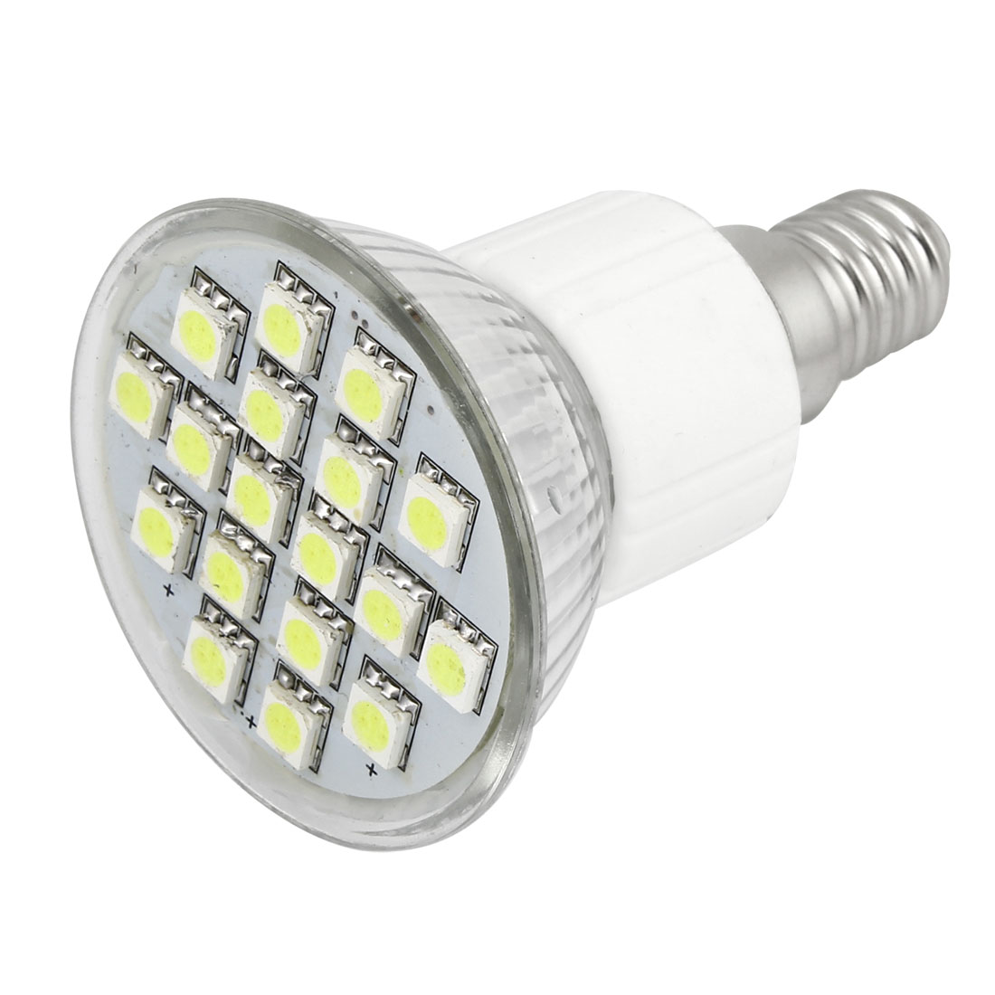 AC 110V E14 Base 18 5050 SMD 6W White LED Down Light Spotlight Bulb