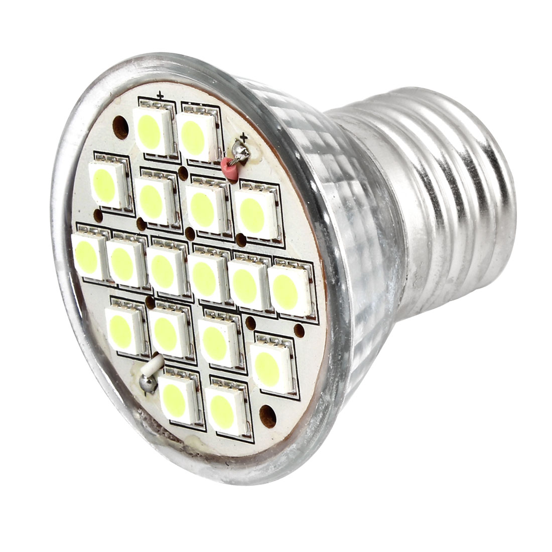 E27 Socket AC 110V White 18 5050 SMD LED Spot Light Energy Saving Bulb 6W