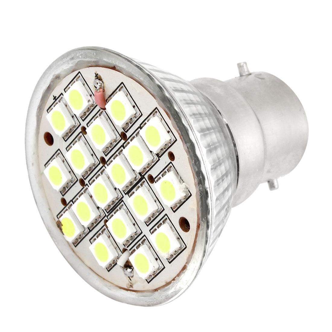 AC 110V B22 Base 18 5050 SMD 6W White LED Down Light Spotlight Bulb