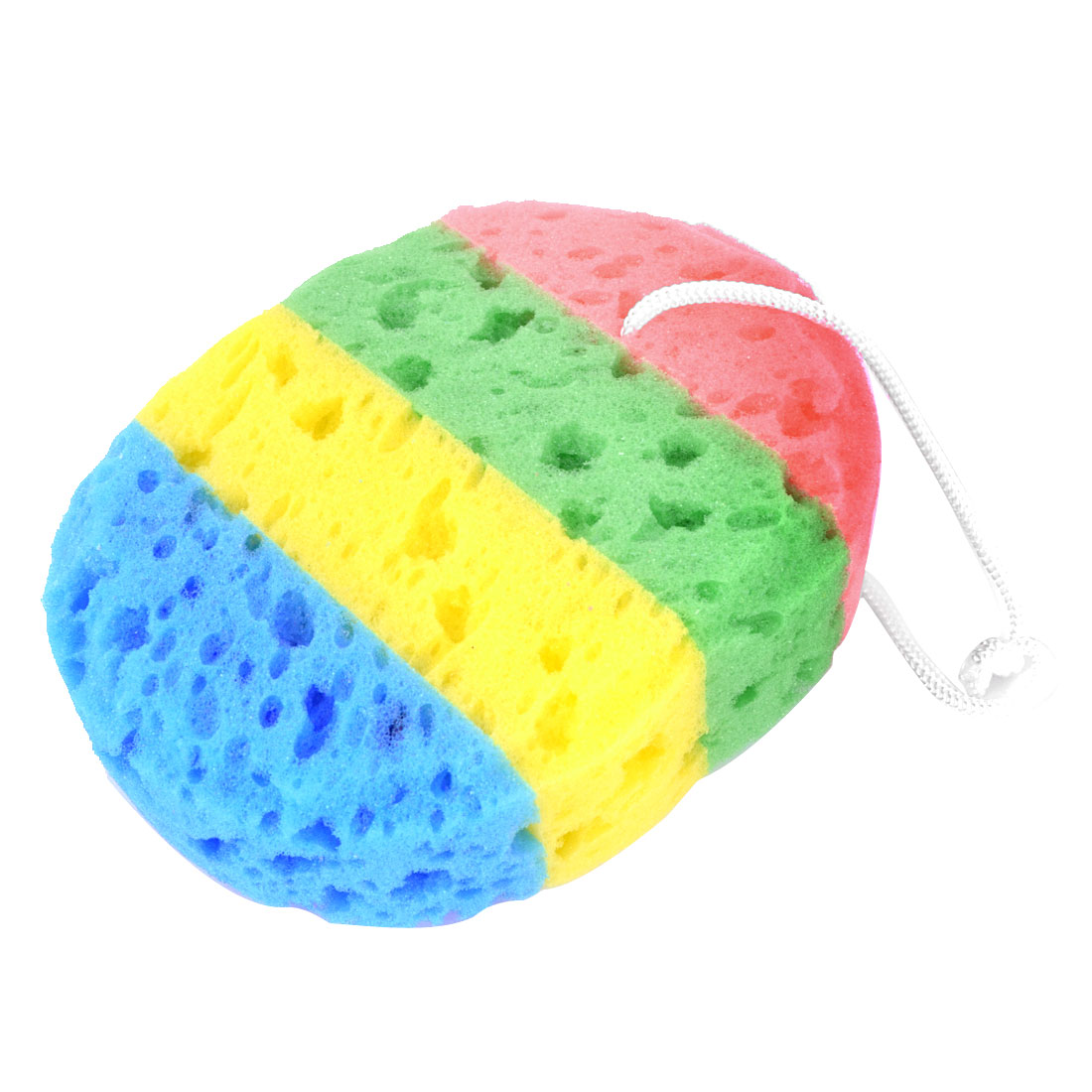 Rectangle Shape Colorful Bath Sponge Body Exfoliate Shower Loop Scrubber