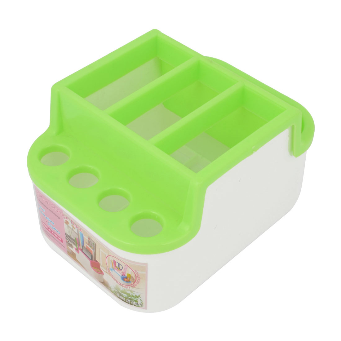 Household Green White Multi Purpose Pens Glasses Holder Mobile Phone Remote Control Gadgets Storage Box