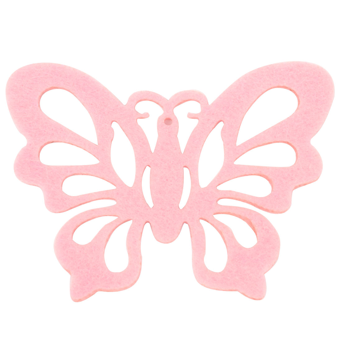 "0.1"" Thickness 4.7"" Long Pink Butterfly Shape Felt Heat Insulation Pad Cup Mat Coaster"