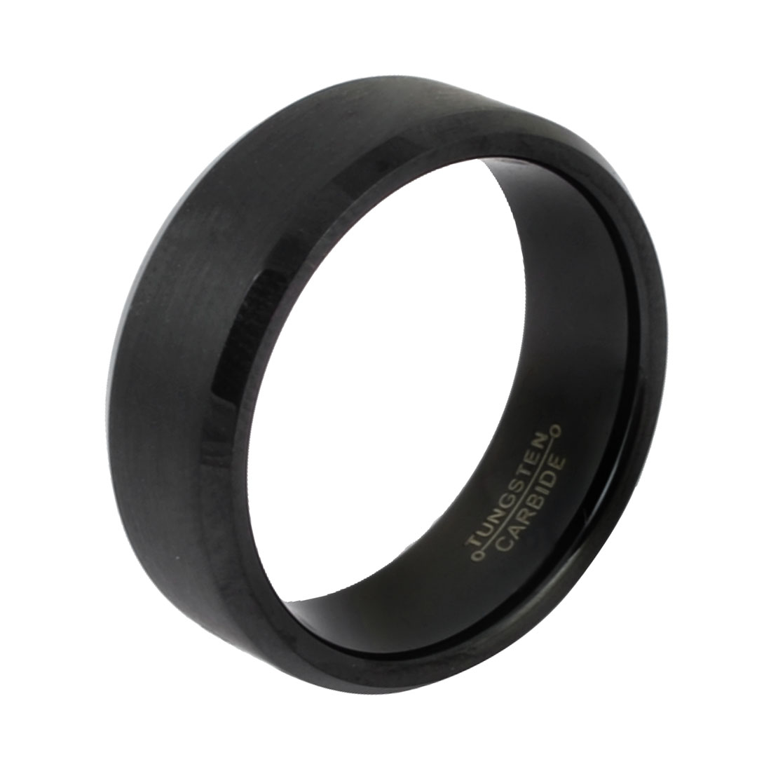 Men 69mm Circumference Tungsten Steel Band Ring Finger Ornament Black Us 12 3/4( 13#)
