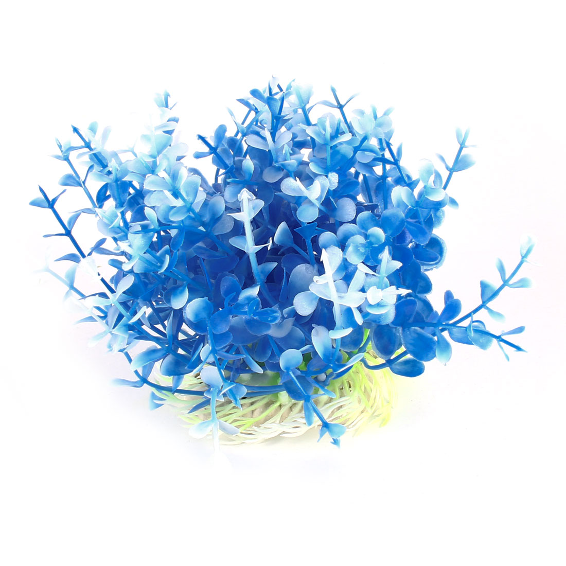 11cm Aquarium Tanks Emulational Blue White Plastic Decor Aquaric Grass