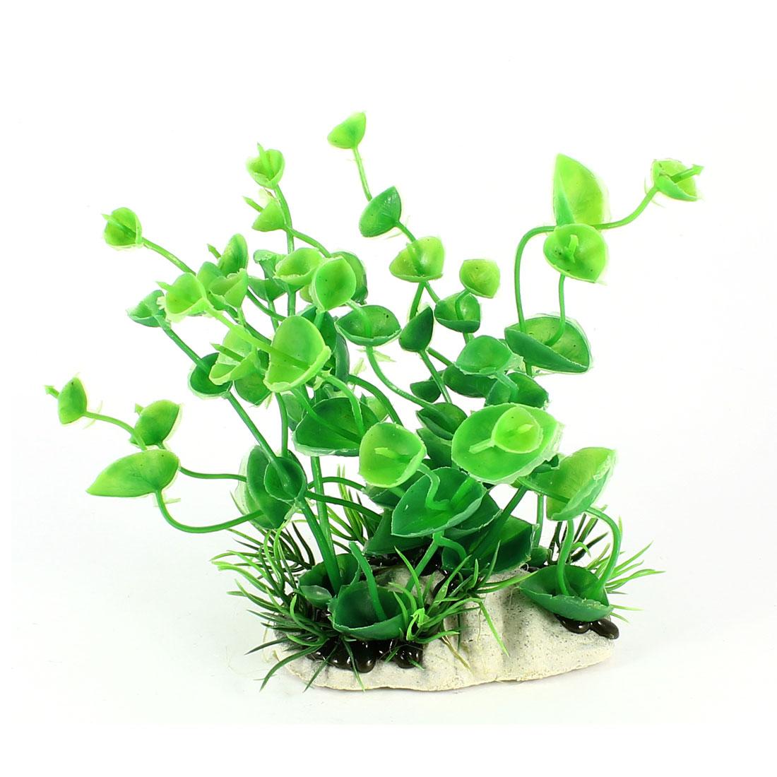 "5.5"" Height Fish Tank Manmade Green Plastic Decor Underwater Aquaric Plant"