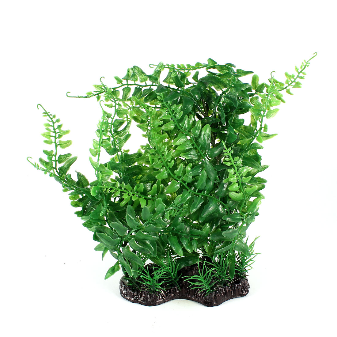 19cm Height Aquarium Tanks Aquascaping Green Plastic Adorn Underwater Plant