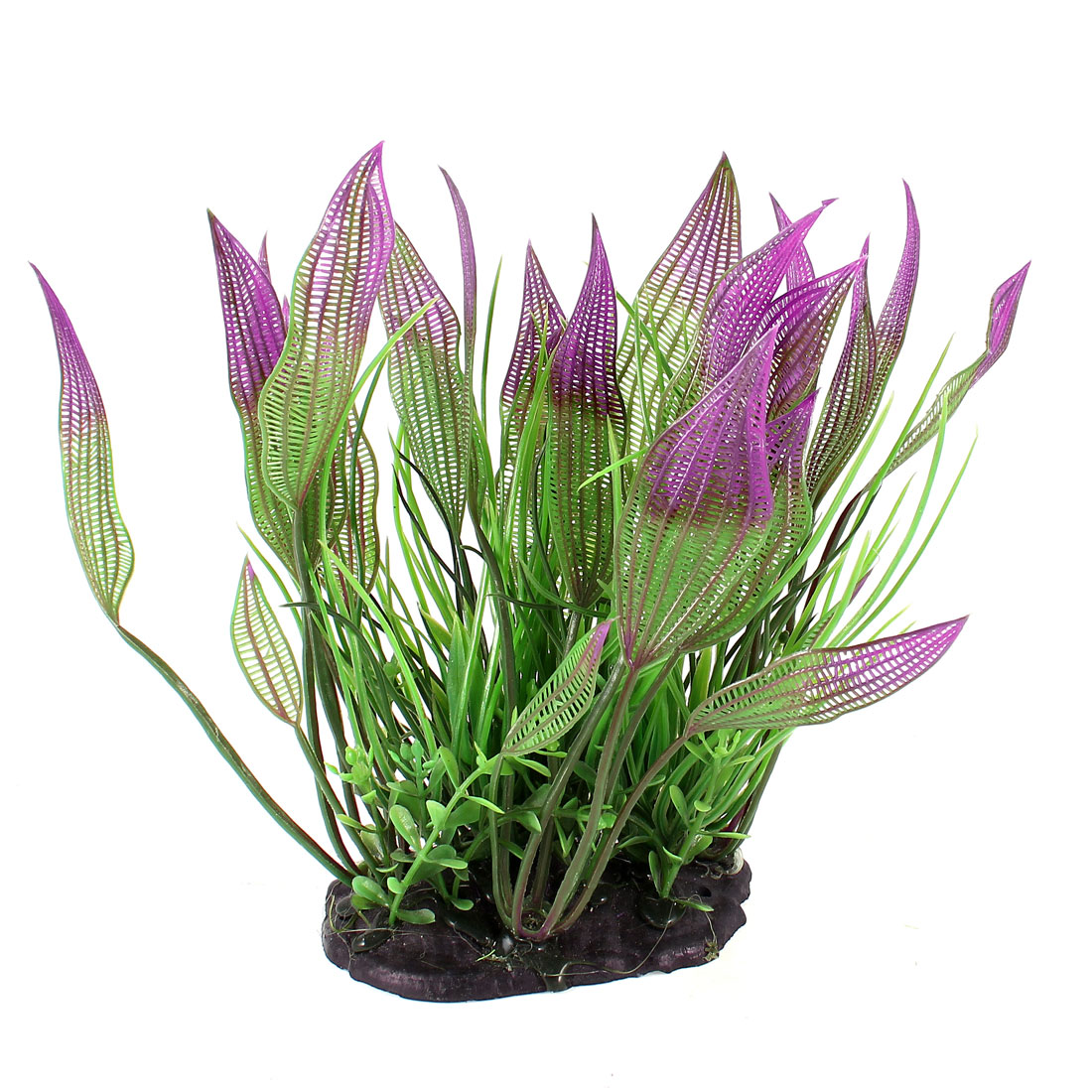 Aquarium Tanks Aquascaping Green Light Purple Plastic Decor Water Plant 6.3""