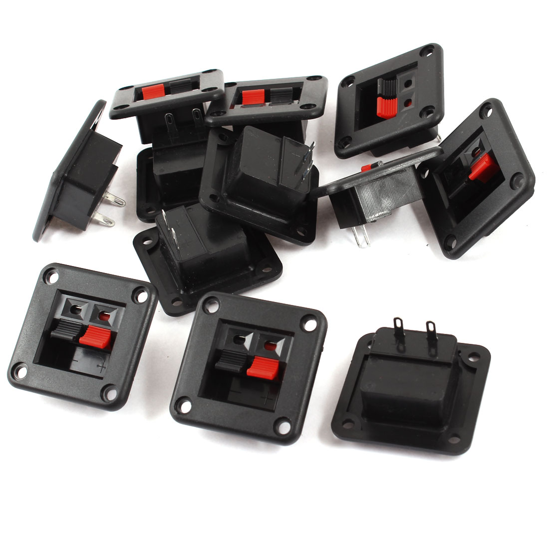 12 Pcs 2 Terminal Single Row Square Shape 2 Position Speaker Connector Board