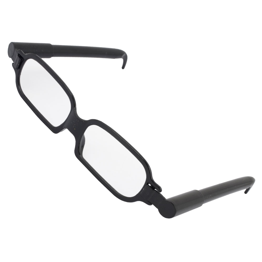 Single Bridge Full Rim Glasses Frame Fashion Ball Point Pen Black
