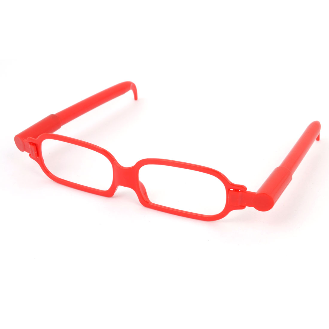 Plastic Single Bridge Full Rim Glasses Frame Design Ball Point Pen Red