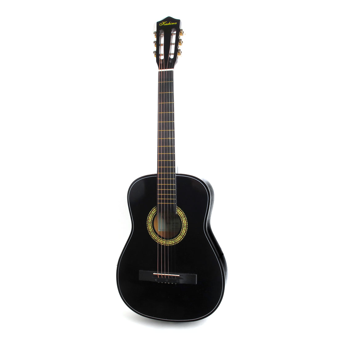Black Wooden Body 6 Strings 96.5cm Length Musical Acoustic Guitar