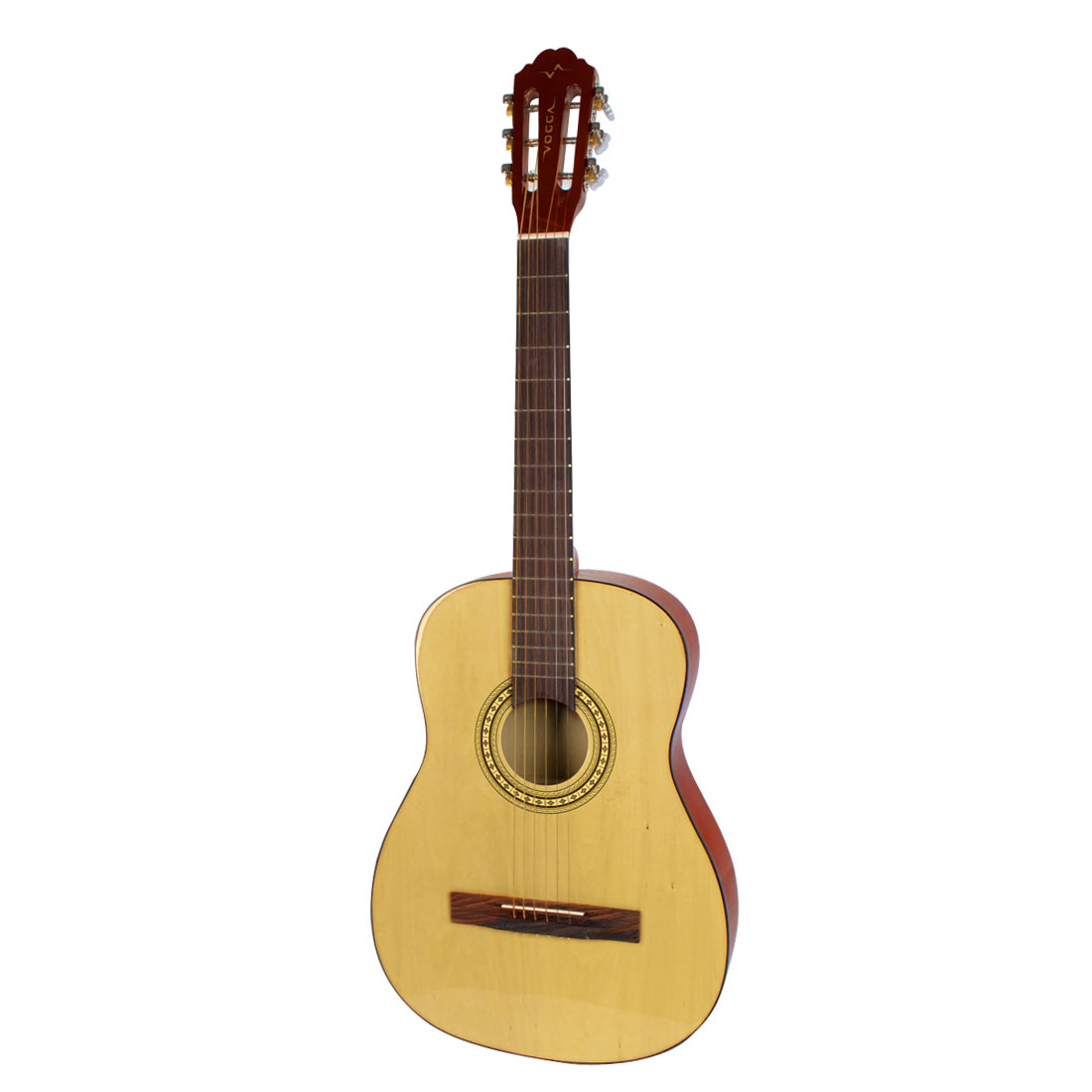 Brown Beige Wooden Body 6 Strings 96.5cm Length Musical Acoustic Guitar