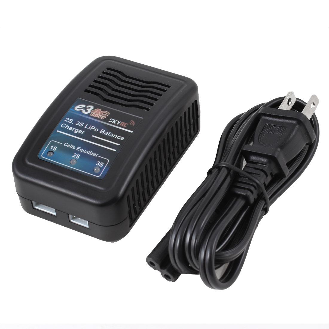 AC 100-240V US Plug 2S 3S Li-polymer LiPo R/C Hobby Balance Charger 1.2A