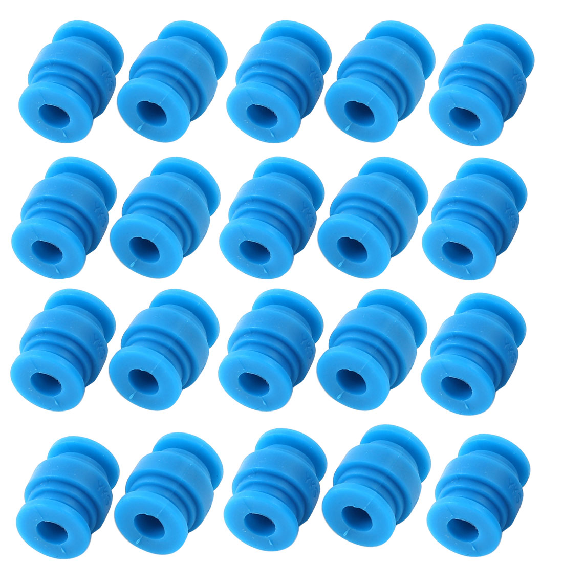 Radio-controlled Aircraft Blue Rubber Shock Absorption Damping Ball 20 Pcs