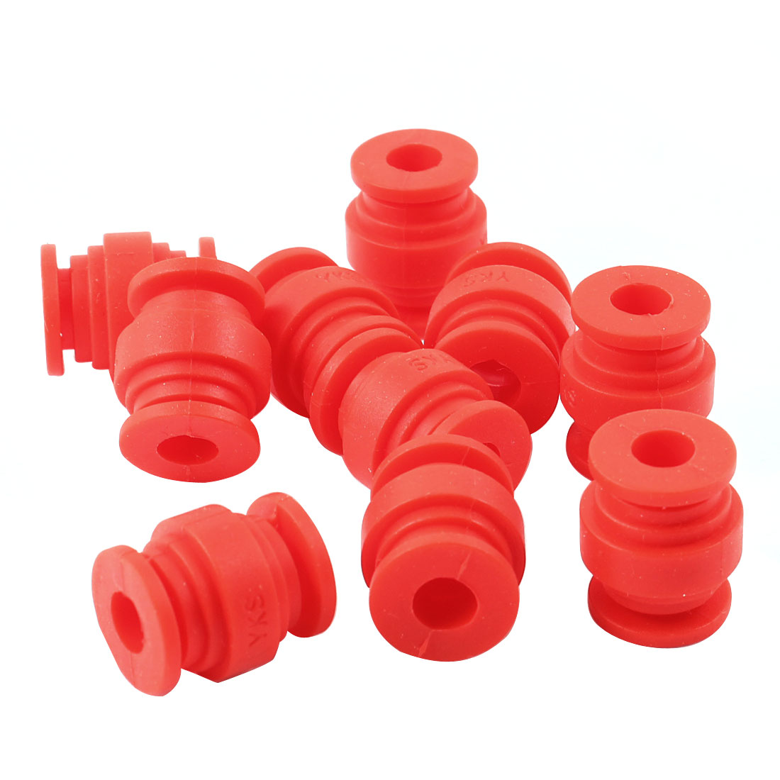 Radio-controlled Aircraft Red Rubber Shock Absorption Damping Ball 10 Pcs