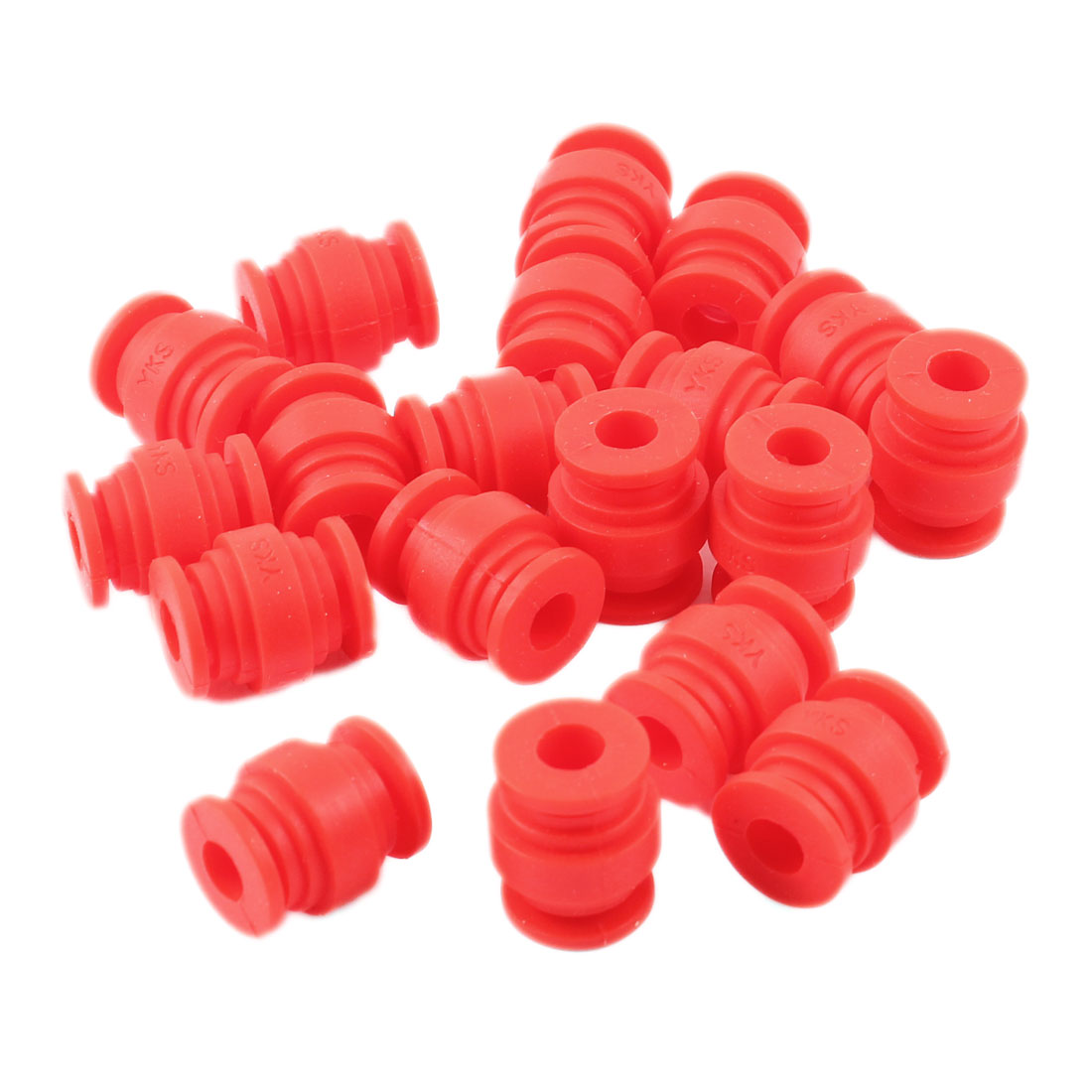 Radio-controlled Aircraft Red Rubber Shock Absorption Damping Ball 20 Pcs