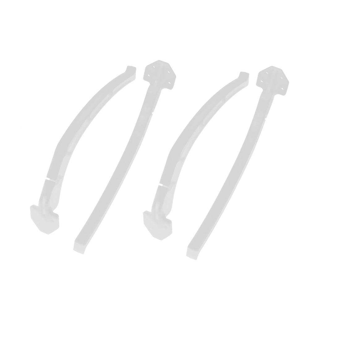 4 Pcs White Universal Landing Gear Skids for DJI F450 F550 Aerial Photo