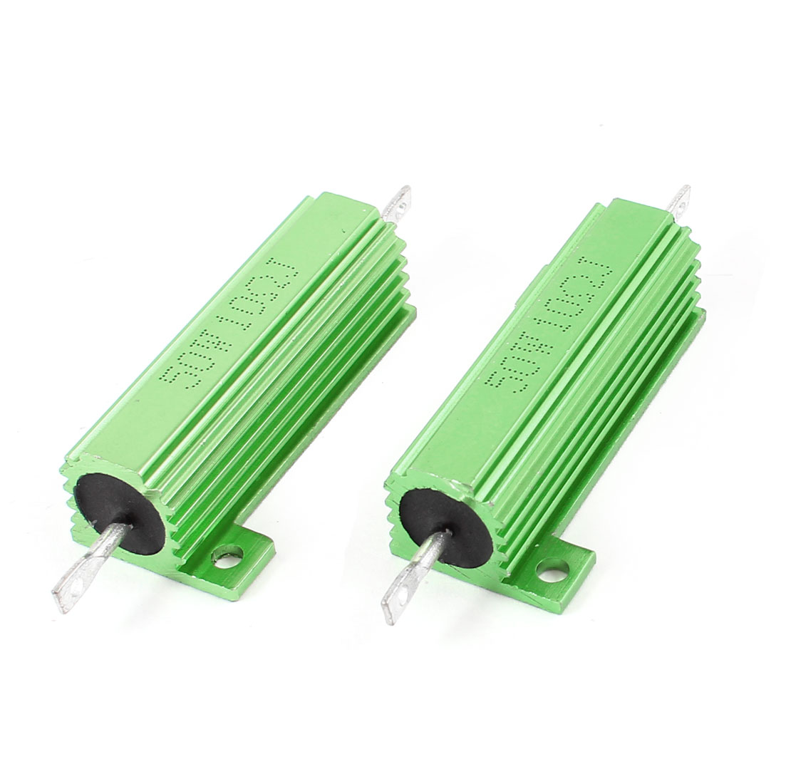 2pcs Electrical Part 50W 10 Ohm 5% Tolerance Resistance Resistor