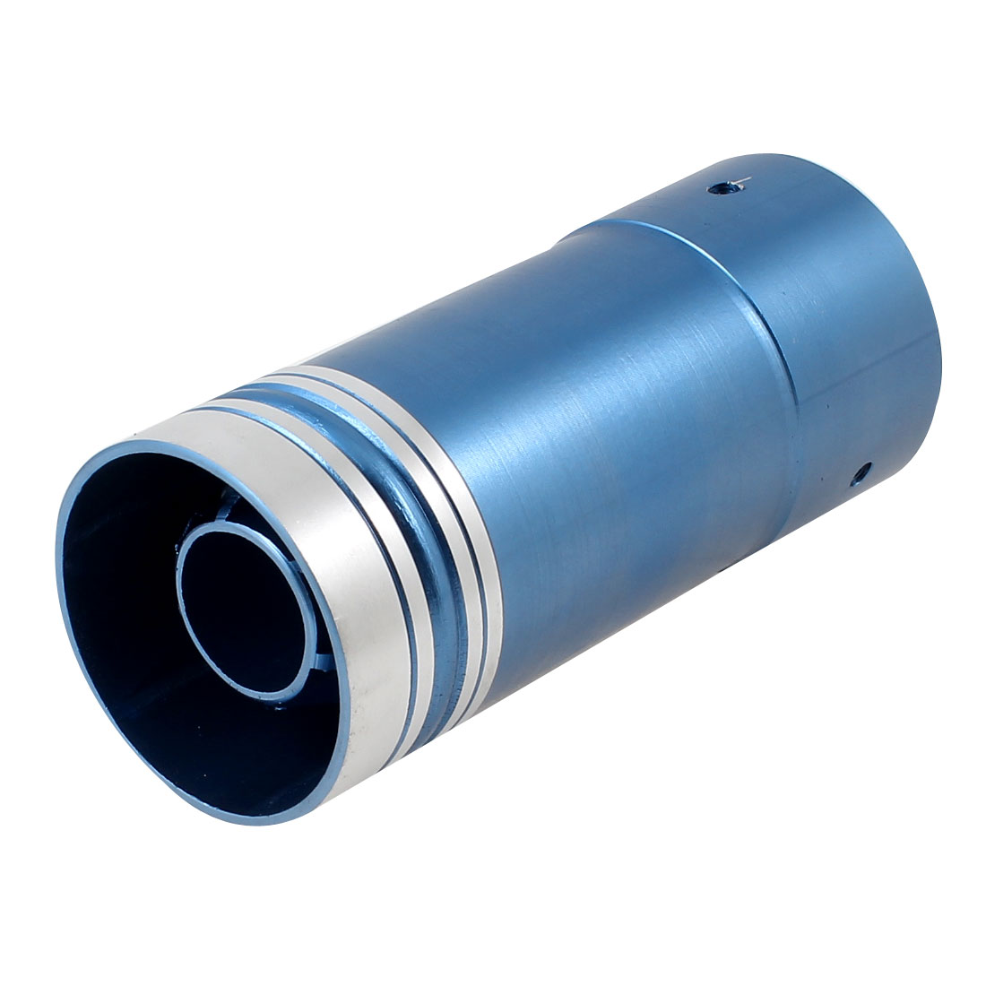 14.5cm Long Car Truck Round Rolled Blue Tail Exhaust Muffler Tip